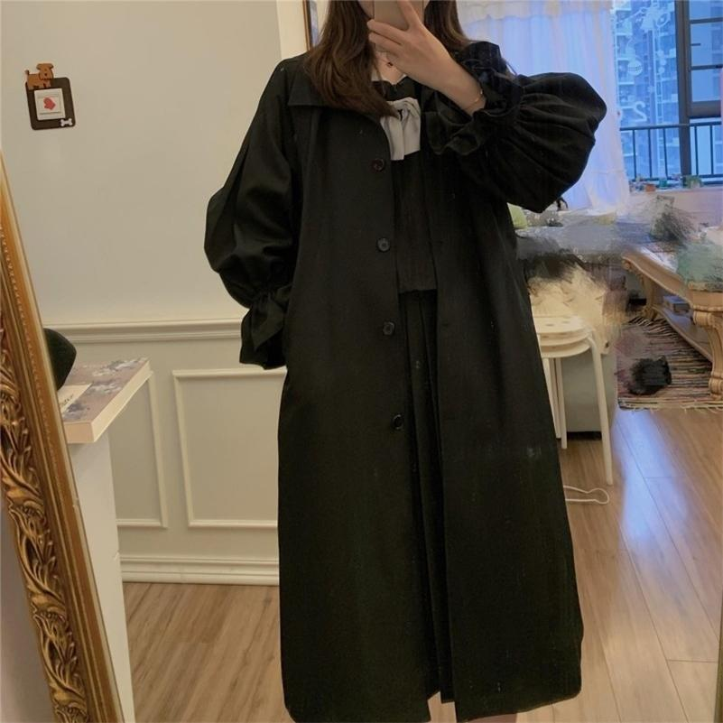 High Qulitity Женщина Пальто зимней шерсти Длинное пальто с ремнем Офис Lady Мода Кружева Наверху Верхняя одежда 201221