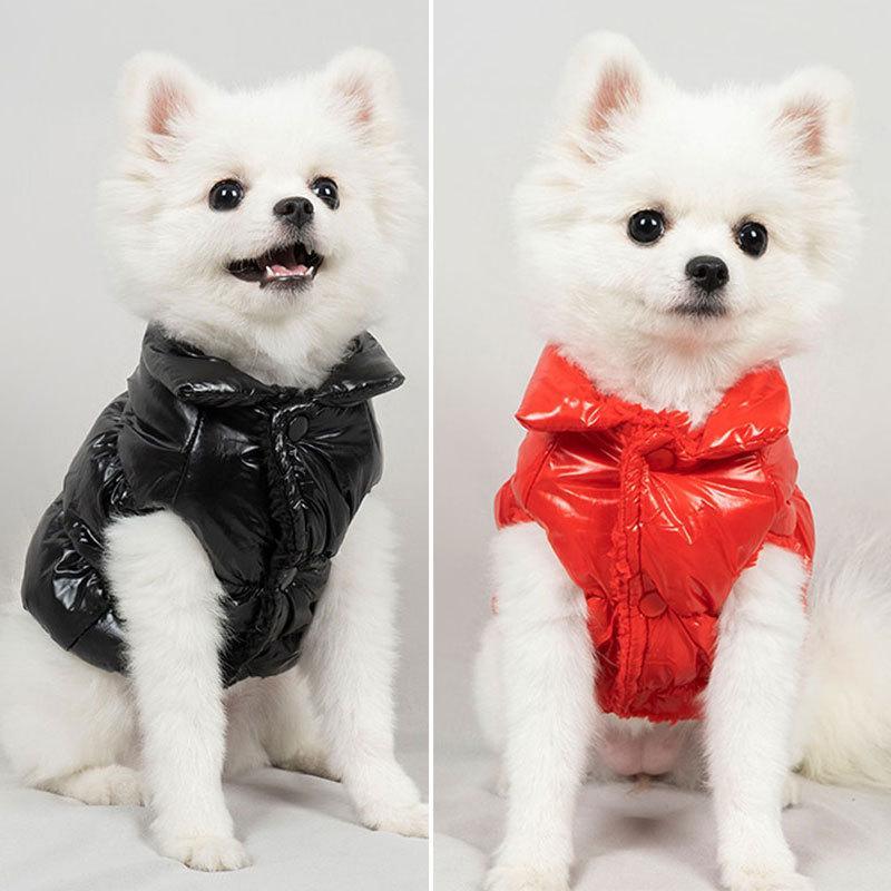 Vêtements de chien de compagnie d'animaux de compagnie brillant veste d'agneau à deux pattes à deux pattes Bulldog français Corgi Vêtements d'hiver à la mode chaude manteau d'hiver