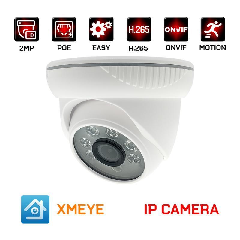 3MP 2MP POE IP kamera h. XMEYE ONVIF 265 kapalı plastik kubbe CCTV video izleme güvenlik kamerası kızılötesi gece görüş 1080P