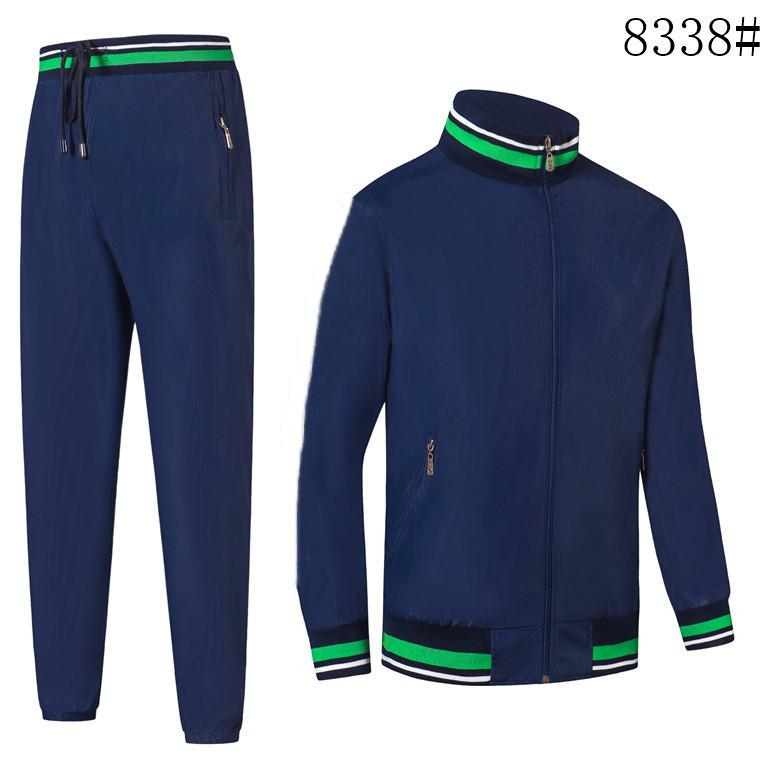 Men's Sweat Suits spring autumn Sets Casual 2 Pieces Sets Jogger Sports Tracksuits Short Sleeves jacket and Short Pants
