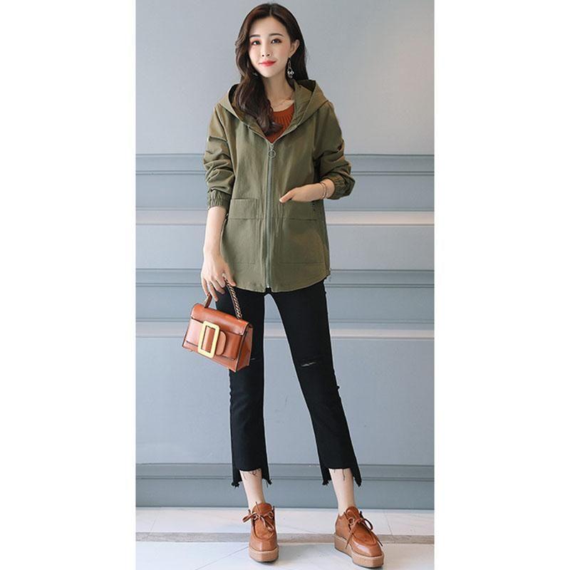 gevşek küçük sonbahar 2020 yeni moda rahat vahşi kısa ceket A460 ve rüzgarlık kadın Kore versiyonu