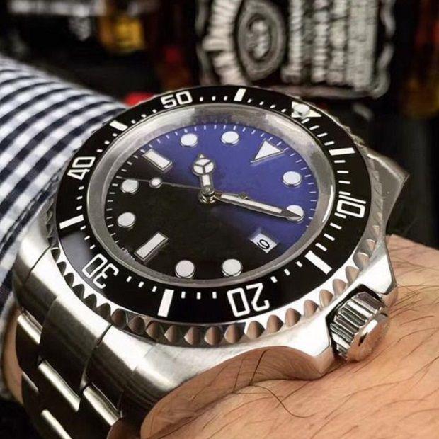 최고의 품질 남성 시계 세라믹 베젤 44mm 스탠리스 스틸 자동 고품질 비즈니스 캐주얼 망 시계 손목 시계