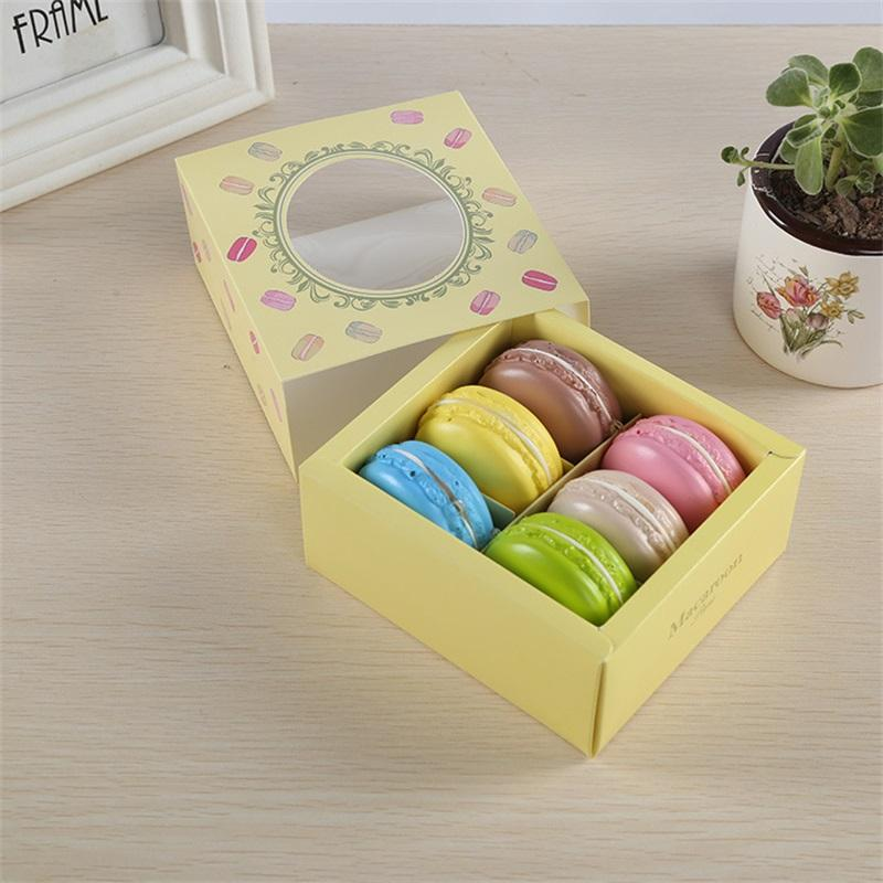 Caixa de bolo de bolo de macaroon Caixa de bolo de cozimento caso de chocolate alimento embalagem embalagem biscoitos recipientes de gaveta de recipientes tipo Chegada 1 09JM F2