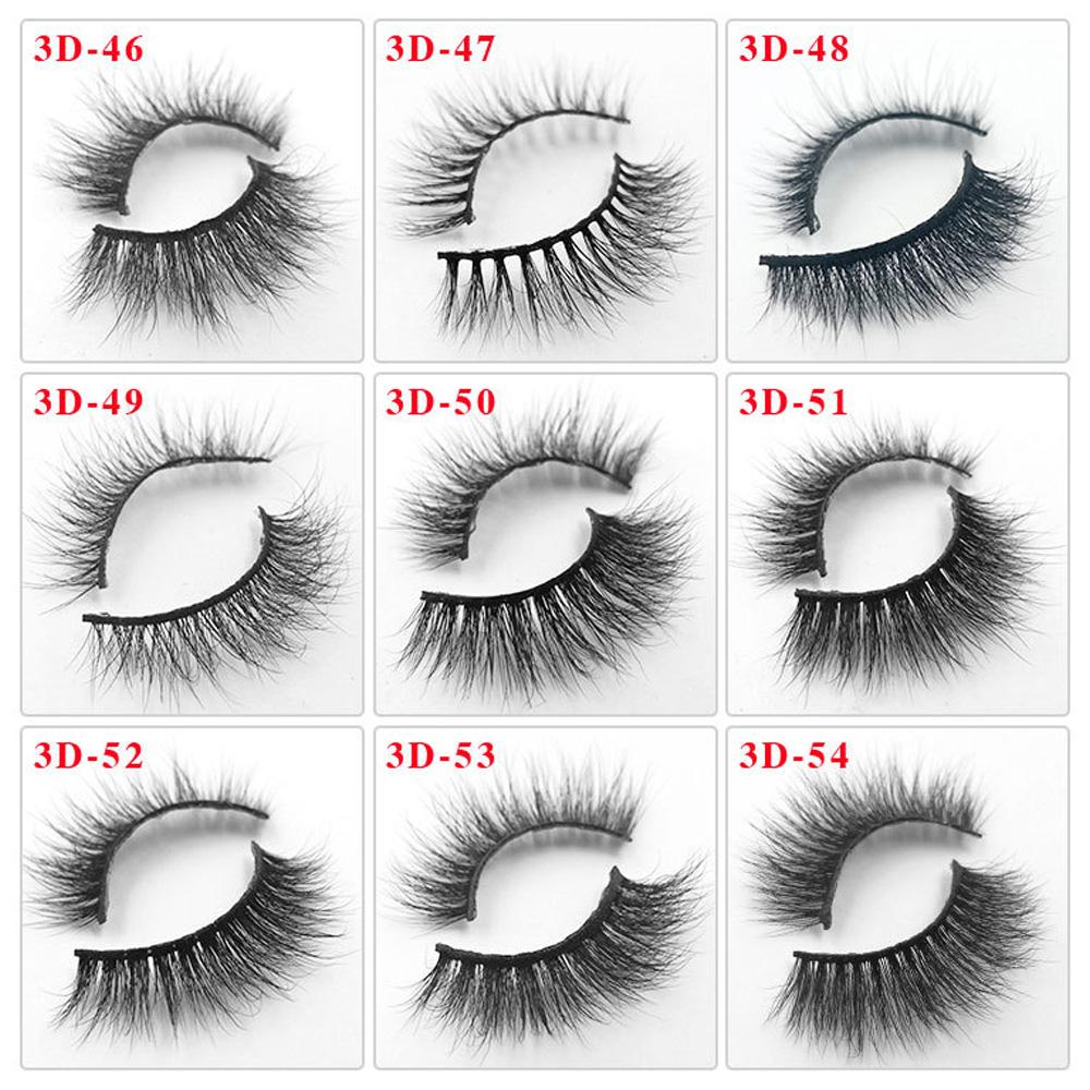 81 Styles Mink Lashes 3D Vison Cils 100% Cruauté Lashes main libre réutilisable Cils naturel Maquillage de Faux-Cils Vison Cils
