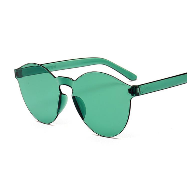 Gafas de sol de calidad del sol rosado Mujeres de metal de la vendimia 2020 lentes femeninas Nuevas gafas amarillas coloridas Sombra Alta Marco Lsugi