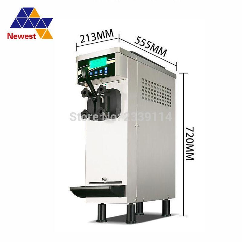 1 Mini saveur petite 10L / H type de bureau comptoir de crème glacée molle machine de fabrication, machine à crème glacée