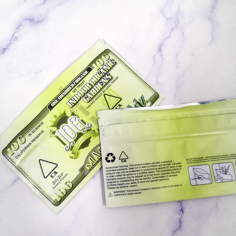 2020 nuovo arrivo California impermeabile agli odori 10g mylar Borsa coperta orti biologici MAC1 Billy barca Mylar a prova di bambino Borse 420 Dry Herb Packaging