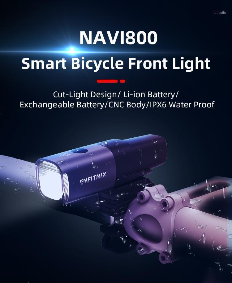 Enfitnix Navi800 Smart Scheinwerfer Fahrradlicht USB wiederaufladbare Road Mountain Radfahren Fahrrad1