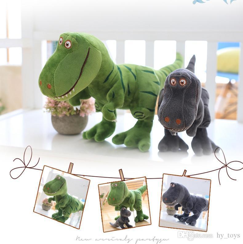 Yeni Dinozor peluş oyuncakları hobiler karikatür Tyrannosaurus çocuk erkek bebek Doğum Noel hediyesi için oyuncak bebek dolması varmak