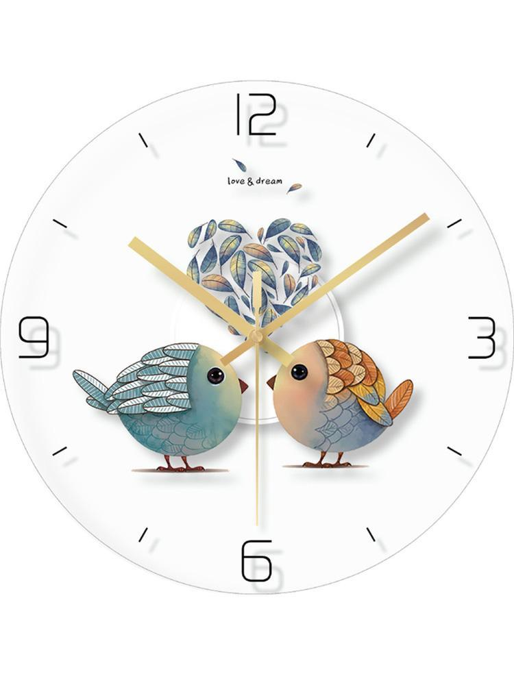 ساعات الحائط الزجاج الأنيق ساعة تصميم غرفة نوم فتاة غرفة المعيشة الحديثة الشمال reloj دي باريد الساعات الإبداعية EA60WC