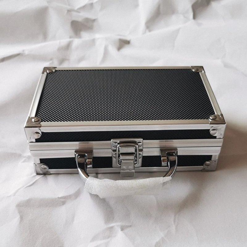 Aluminum Alloy tool case Receiving Packaging Box for Gun Mould Black Small Toolbox with foam lining shipping free Kx4H#
