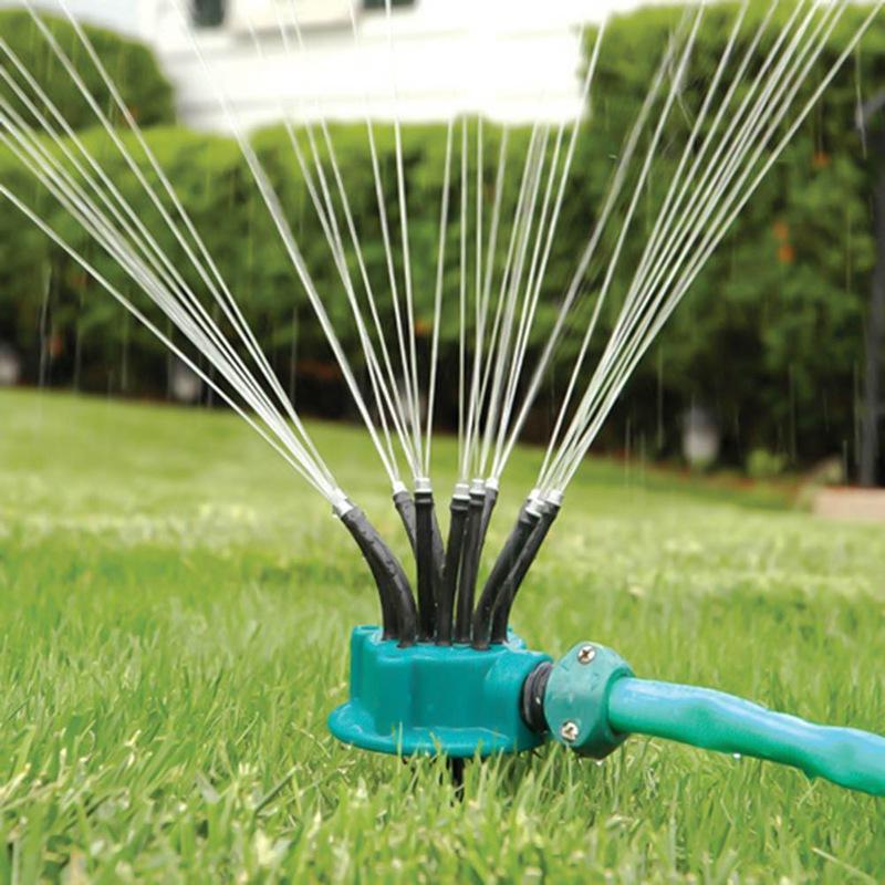 360-Grad-Garten Automatische Sprinklerdüsengehäuse Gartenbewässerung Spray Bewässerung Gras Rasen Kreis drehendes Bewässerungssystem