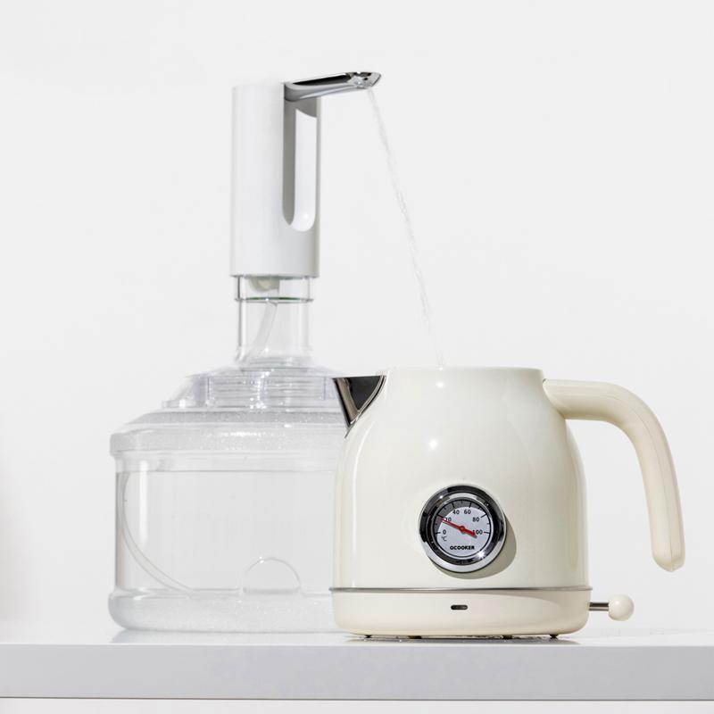 Zusammenklappbare Barrelwasserspenderpumpe Elektrische Wasserspender Ultra-leiser Niedriger Geräusch 1200mAh Silikon-Röhrchen Getränk LLA326