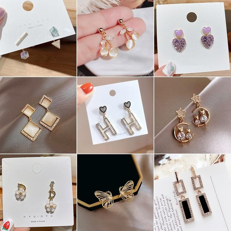 lG1YJ S925 серебряная игла East Gate Нью-бабочка Корейский стиль жемчужные женские серьги бабочки жемчужные серьги простой ювелирные изделия уха