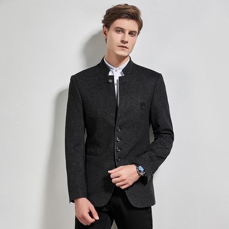 Herrenanzüge Blazer 2021 Herbst- und Winterständerkragen Anzug Mantel Jugend Zhongshan Business Freizeit Spot Großhandel