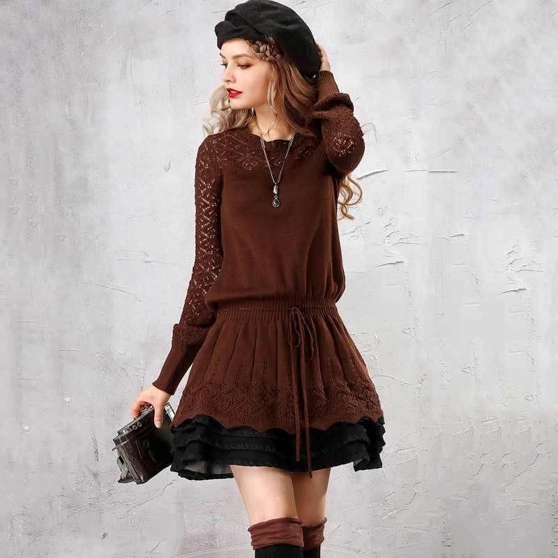 Artka Осенние женский свитер элегантный длинный свитер для женщин шерстяные пуловер винтажные джемпер плюс размер девушки свитера LB15250Q 201022
