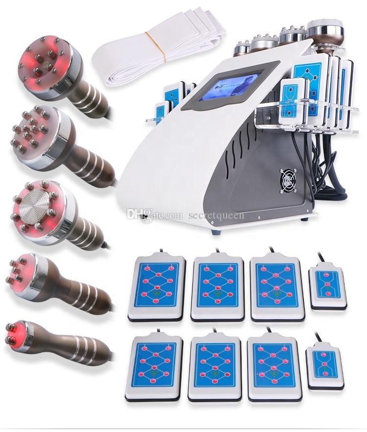뜨거운 제품 6 in 1 진공 레이저 무선 주파수 RF 40K Cavi Lipo 레이저 지방 흡입기 초음파 Cavitation 기계 슬리밍 기계