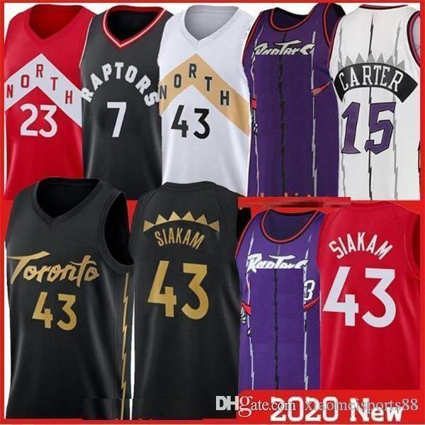 2020 Pascal 43 Siakam Formalar Kyle 7 Lowry Tracy Carter Vince Fred 23 Vanvleet Basketbol NCAA Gömlek Dikişli Kolej Formaları