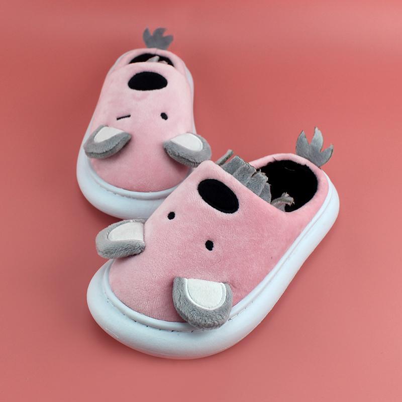 slittamento invernali Le ragazze dei ragazzi della peluche del fumetto Pantofole di cotone imbottito scarpe calde bambini Koala scarpe da ginnastica bambini Mule non EUR29 30-35 36 37