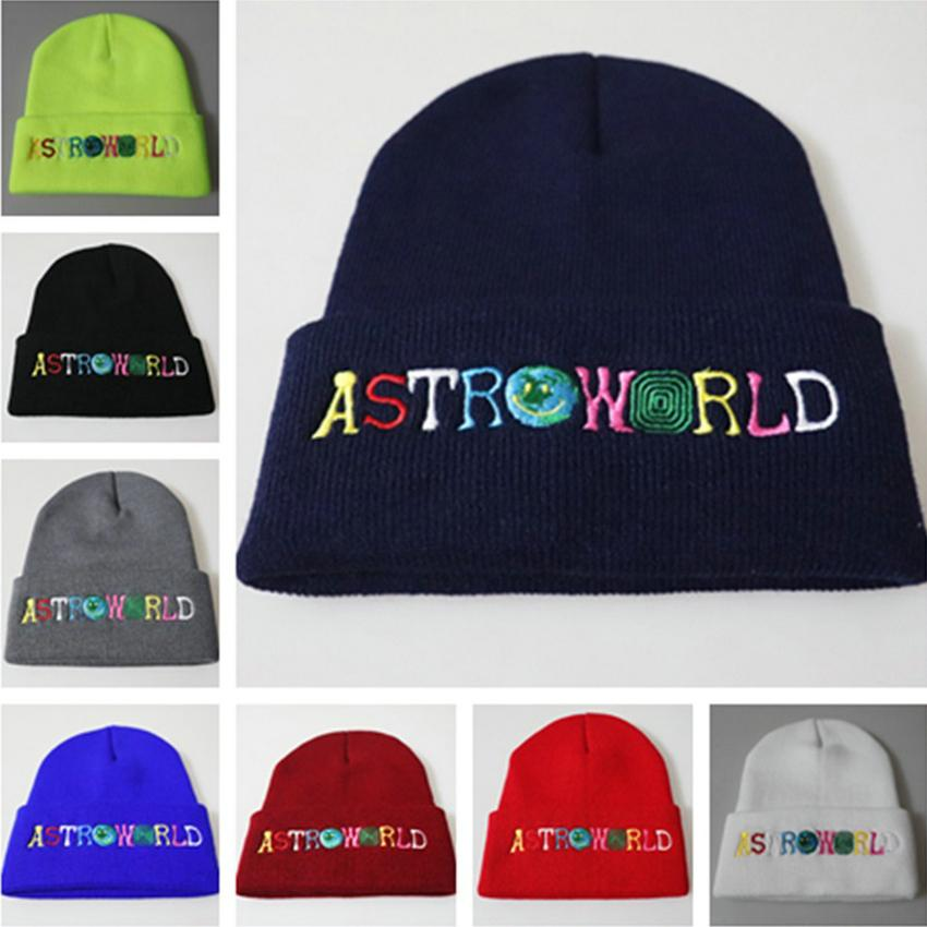 2021 Astroworld Knitted Skull Caps 8 Colors Fashion Hats Hip Hop Letter Embroidered Beanie Unisex Winter Caps