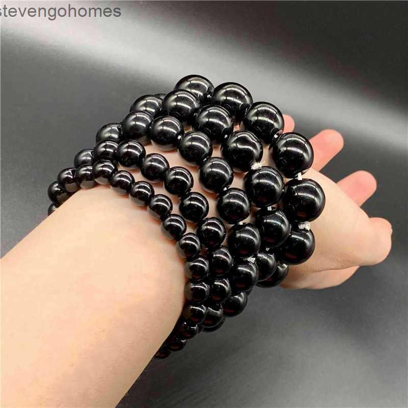 Buddha Black Obsidian Beads Pure Popular Pulsera Joyería simple Yiwu Productos