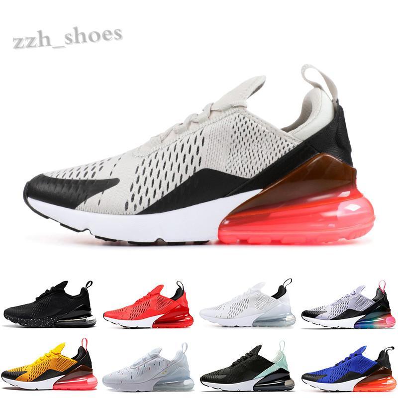 NIKE AIR MAX 270 2020 Yeni Yastık Erkek Ayakkabı Üçlü Siyah Yaz Gradyanları 27s Sneakers Gökkuşağı 27c Kadınlar Spor Eğitmenleri Boyutu 36-45 PR07