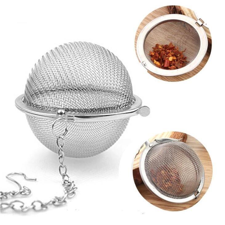 أدوات الشاي المصافي الفولاذ المقاوم للصدأ وعاء الشاي المساعد على التحلل المجال شبكة مصفاة حشو الكرة الشاي القهوة Teaware مكملات مطابخ LSK1577