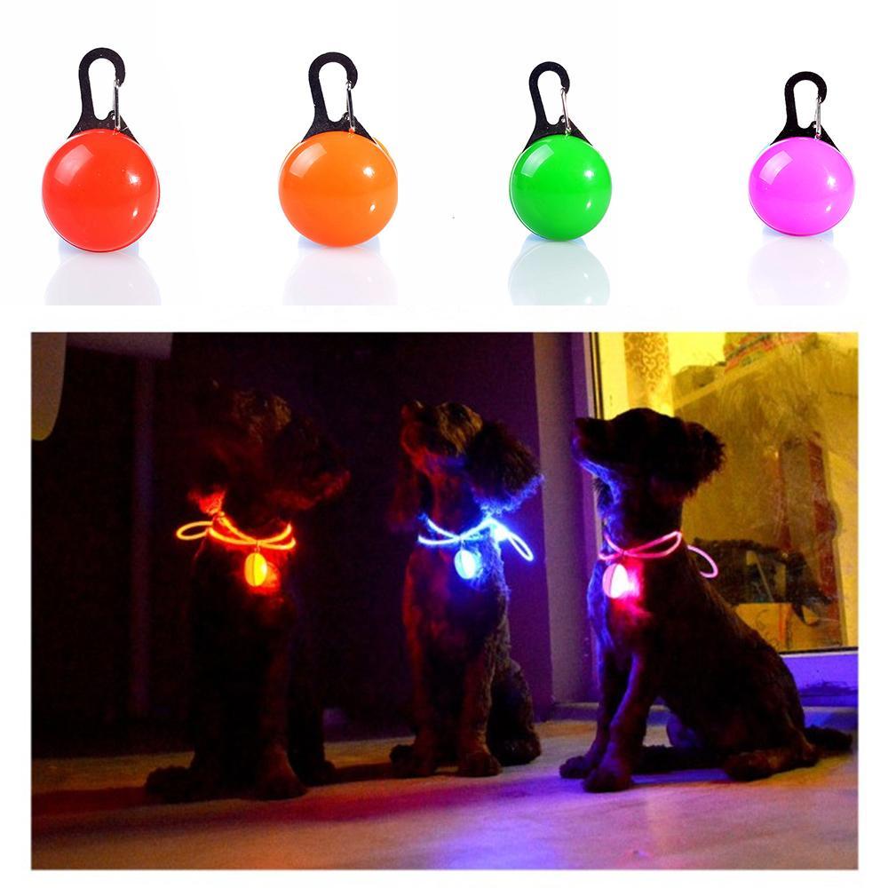 Pet Led Light Dog Cat Waterproof Dog Illuminated Collar Safety Night Walking Lights ID Tags Pet Dog Pendants Flashing Led Collar w-00320