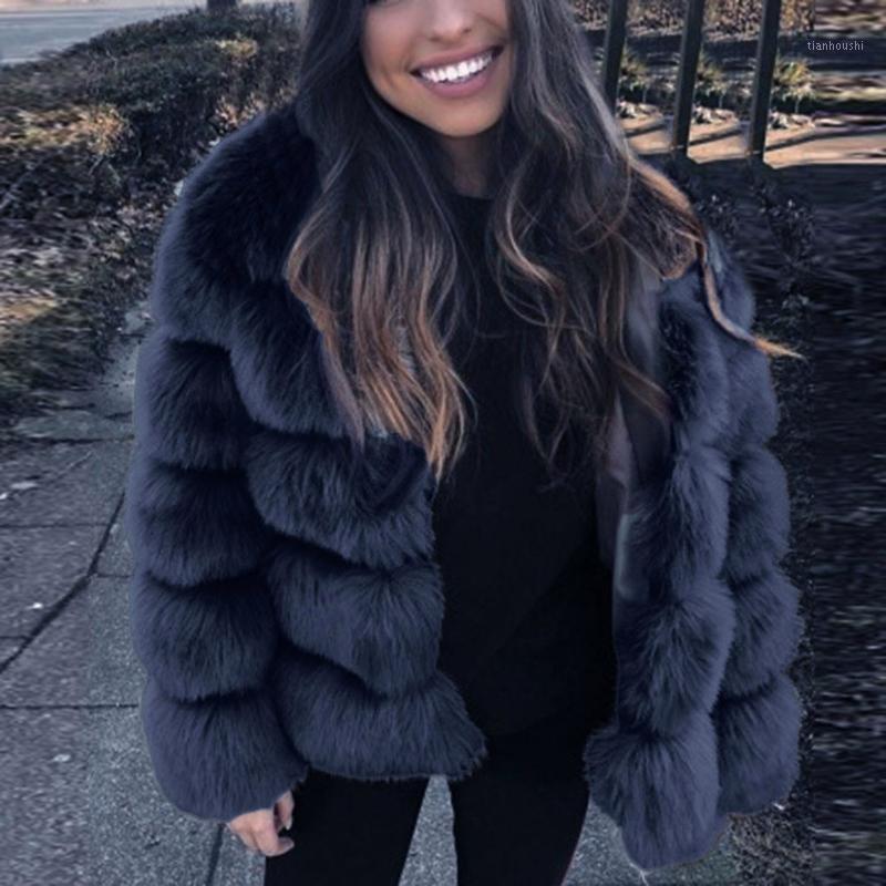 Cappotti di visone Donne 2020 Inverno Top Fashion Rosa Faux Cappotto in pelliccia Elegante Cosmeto caldo Capispalla calda Capistrello Falso Giacca di pelliccia Chaquetas Mujer # G301