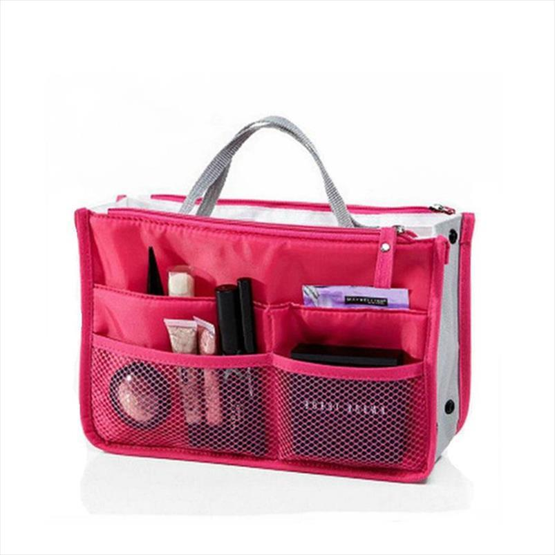 Mulheres cosméticos organizer multifuncional em bolsa de duplo bolsos de viagem sacolagem zíper bolsa portátil lafko