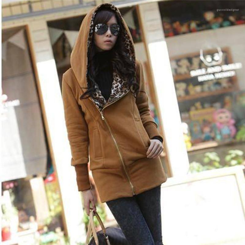 2021 Women Hoodies Designer Long Sleeve Solid Clothing O Neck Casual Slim Autumn Sweatshirts Fashion Leopard Patchwork