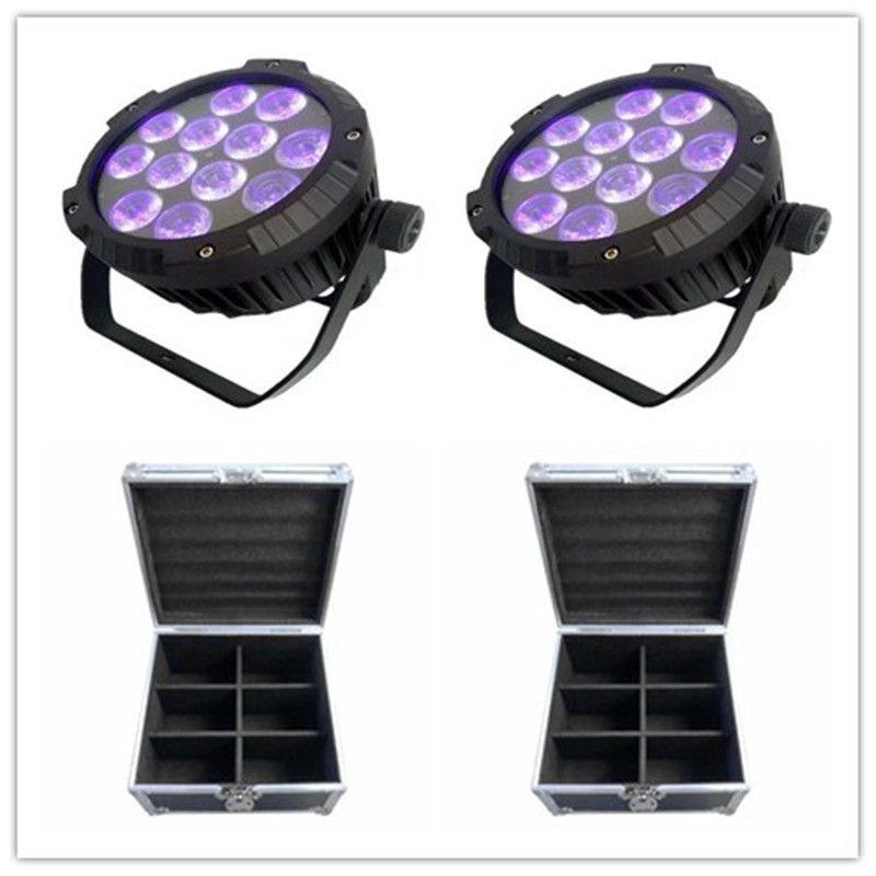 12 adet ile Flightcase Açık Sahne Aydınlatma Par IP65 12x18w Led Par Işık Rgbwa UV Açık Led Par 64 Can