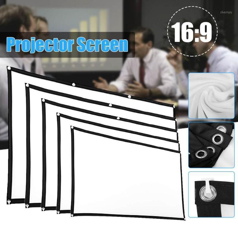 40 50 60 7284 100 106 120pouces Portable pliable écran de projecteur mural Home cinéma cinéma 3D HD écran de Projection toile1