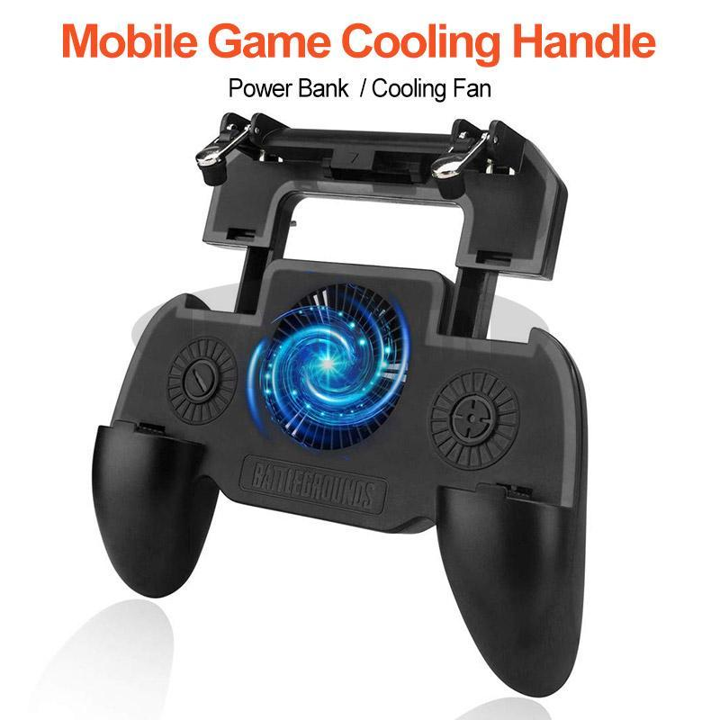 Six Finger Mobile Game Controller Shooting Free Fire Key Button Gamepad Controller Game Gamepad with Cooler Cooling Fan