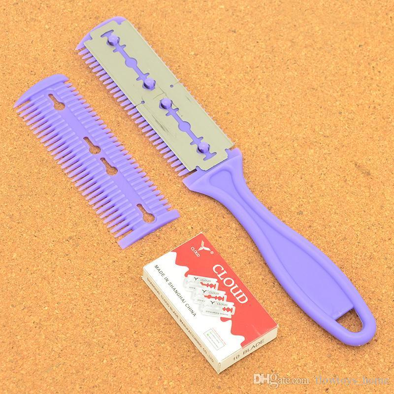Mężczyźni Body Włosy Shaver Blade Trymer Włosy Cięcie Razor Fryzjer Rozcieńczający Nóż Gorący Narzędzie do usuwania włosów + 10blade HC0001