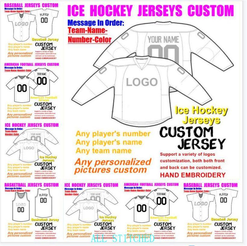 Custom Mens Womens Youth American football Jerseys Sports BASEBALL ICE HOCKEY BASKETBALL Customized 2021 soccer jersey navy 4xl 5xl 6xl