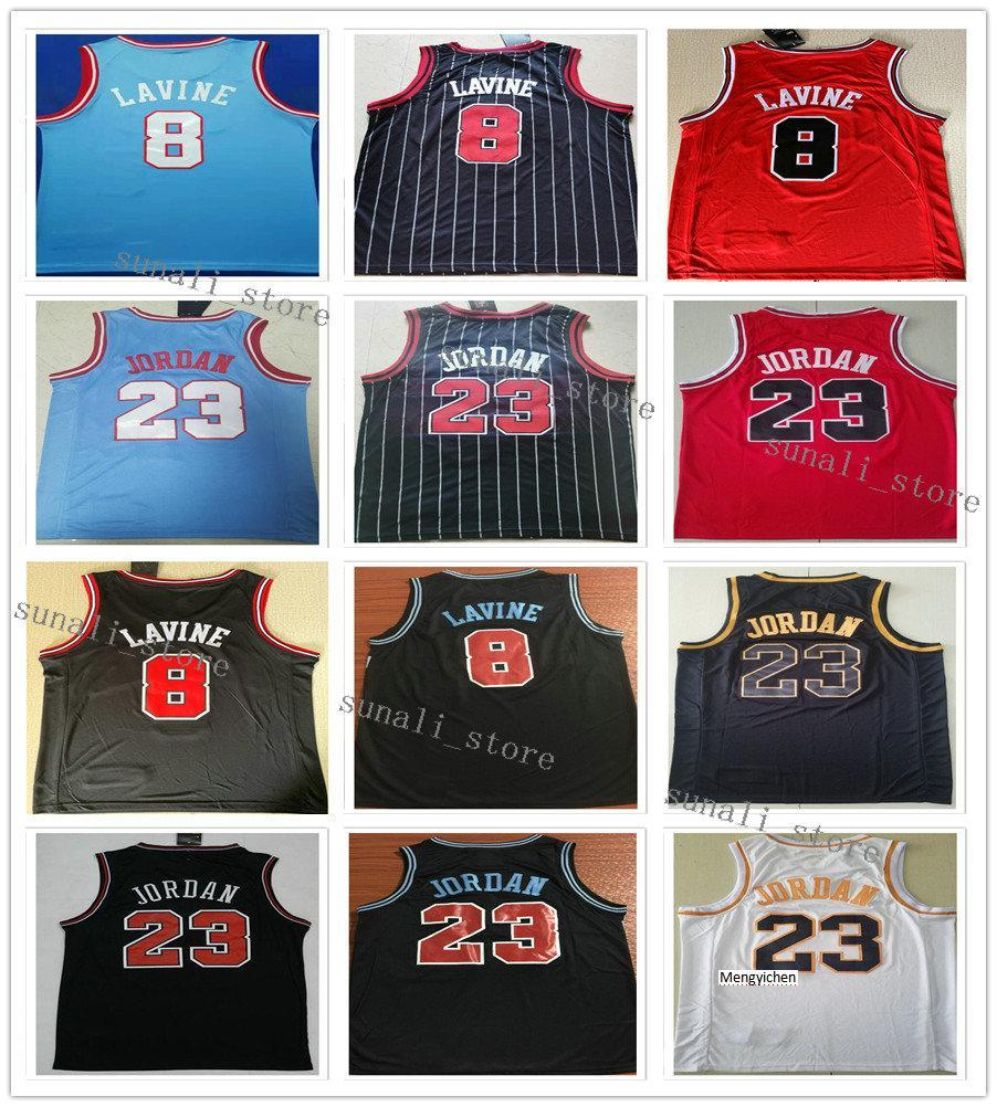 NCAA cucito caldo coby 0 bianco Zach 8 Lavine Michael 23 JD Wendell 34 Carter Jr. Jergeys Pallacanestro 2020 Nuove camicie bianche rosse nere