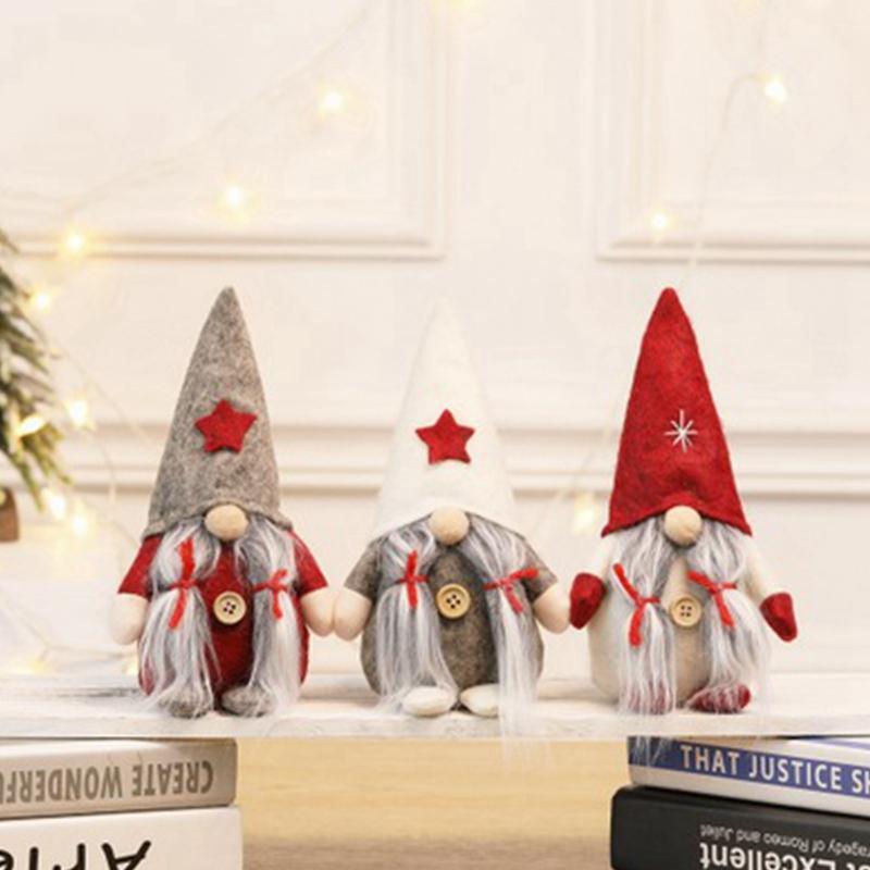 Estilo de Navidad Sin Cara muñecas euro americano Ventana muñeca Santa Claus muñeca de la historieta de Navidad juguetes decoración de la ventana Escena Disposición EEA2118