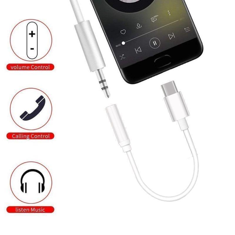 Digite C 3 .5 Jack fone de ouvido cabo USB C Para 3 0,5 milímetros Aux Auscultadores Adaptador Para Huawei Companheiro P20 Pro Xiaomi Mix