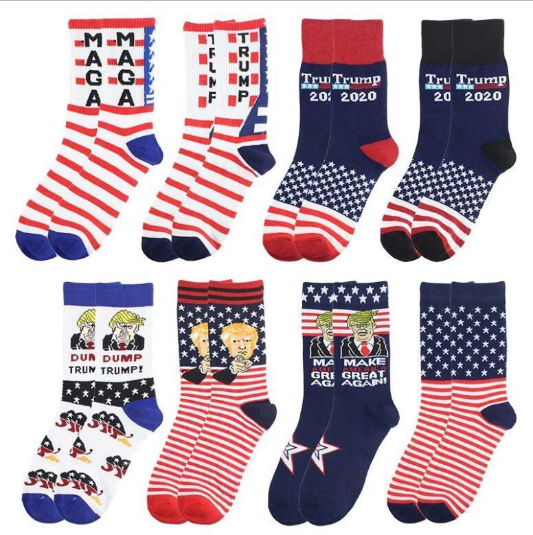 Creative Trump Calze rendono America Grande di nuovo Bandiera Nazionale Stars Stripes Calze Divertenti Donne Casual Uomo Calzini di cotone Spedizione gratuita