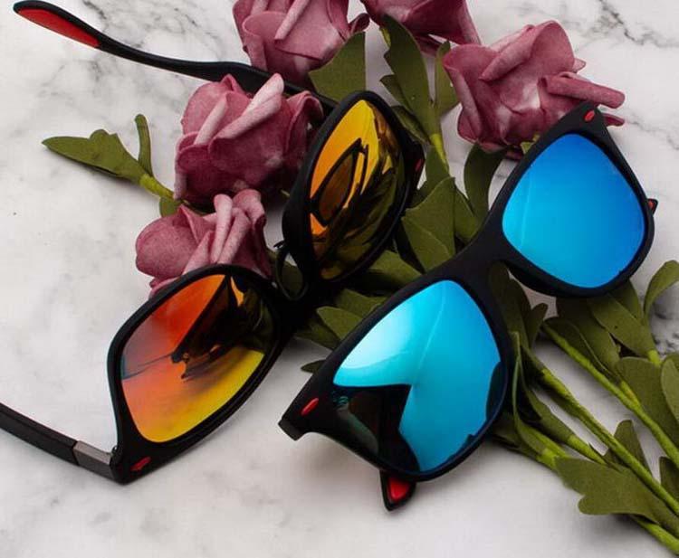 Moda Square Sunglasses Homens Mulheres Designer UV400 Preto Quadro Marca Eyewear 4195 Óculos de Sol 4H5 com caso