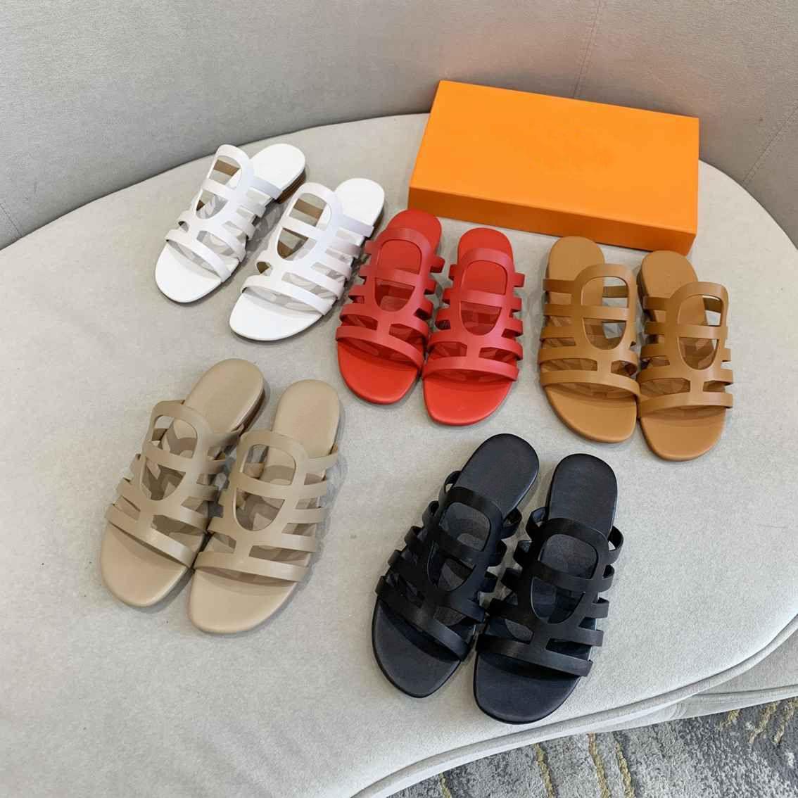 Sexy toboganes planos de moda Sandalias de moda zapatillas de mujer mulas zapatos damas boda tacones altos zapatos zapatos 8 colores de alta calidad