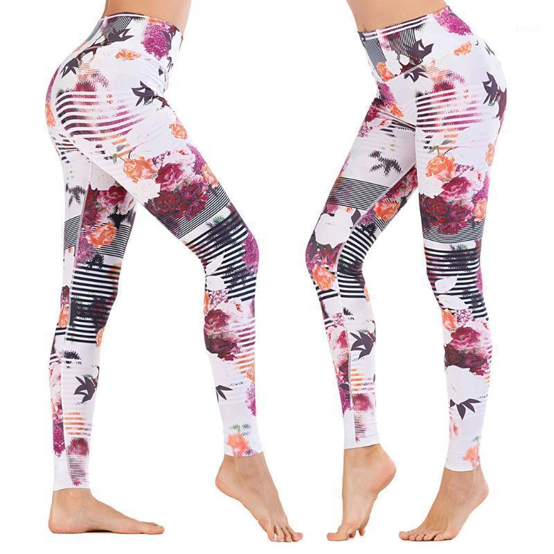 Yoga Outfits Женские Фитнес Леггинсы Обучение Продолжаемая Пятные Плотные Распечатать Высокая талия Плотные Спортивные Спортивные Брюки Бесшовные штаны1
