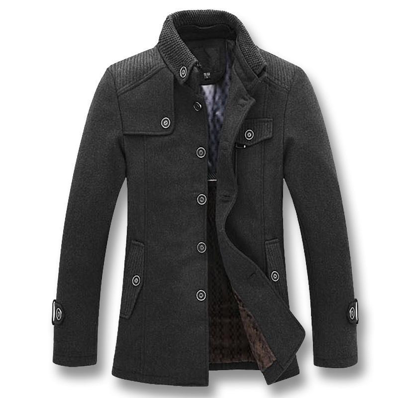 Vestes Hommes Isurvivor 2021 Hommes Smart Casual Coats de laine Hombre Jaquetta Masculina Mode Masculin Fit Slim Great Taille