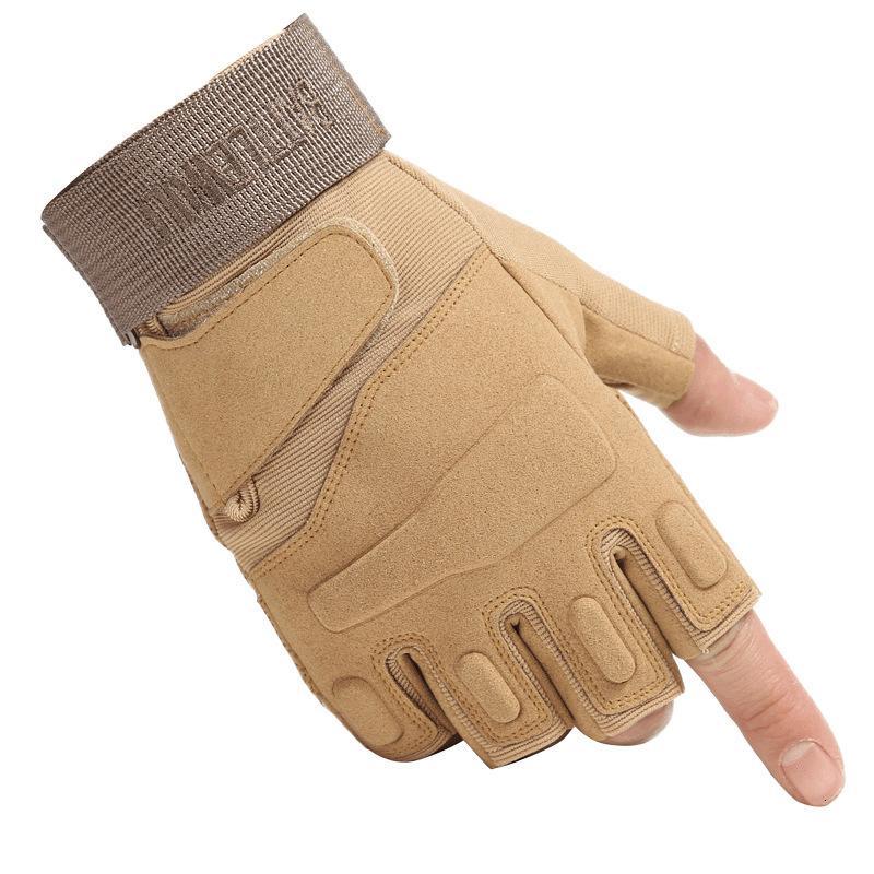Guantes de deportes al aire libre táctico Caza Senderismo Guante medio dedo guantes de camping Paintball Motorcyle competir con de ciclo