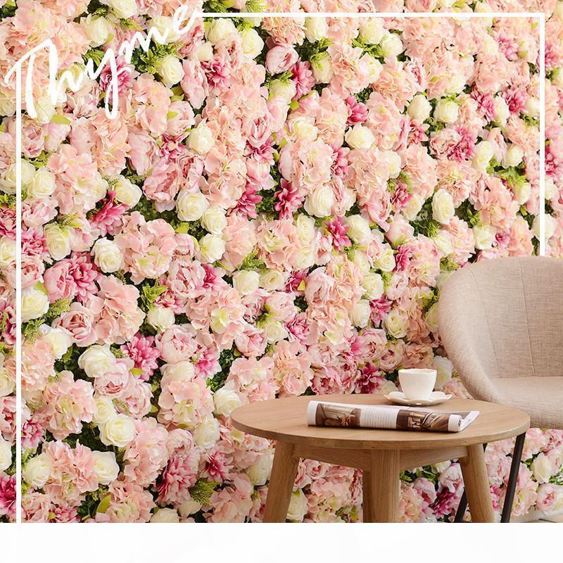 Simulation Rose Wand Silk Blumen-Wand-Hochzeits-Dekoration Hintergrund Blumenladen Fensterdekoration Startseite Weihnachten