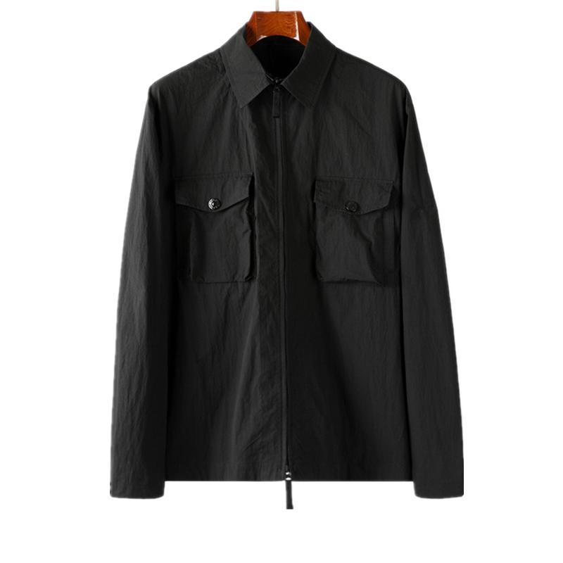 TopStoney 2020 Konng Gonng الربيع والخريف جديد شبح سلسلة الجيب البلوز هوديي سترة سترة أزياء العلامة التجارية العصرية قميص وديك