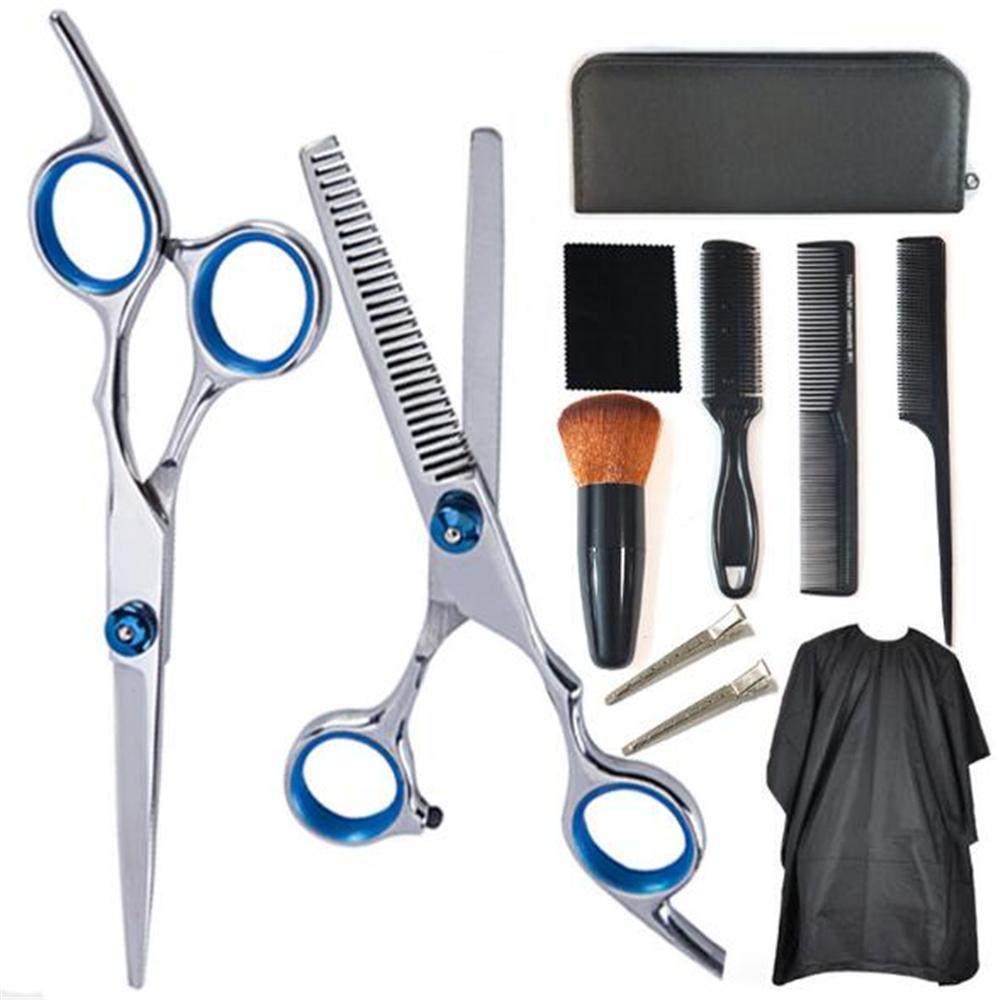 Professionelle Friseurscheren-Set Haar-Ausschnitt-Scheren-Set Haar-Schere-Herrenfriseur-Schere Friseur Werkzeug Salon Zubehör