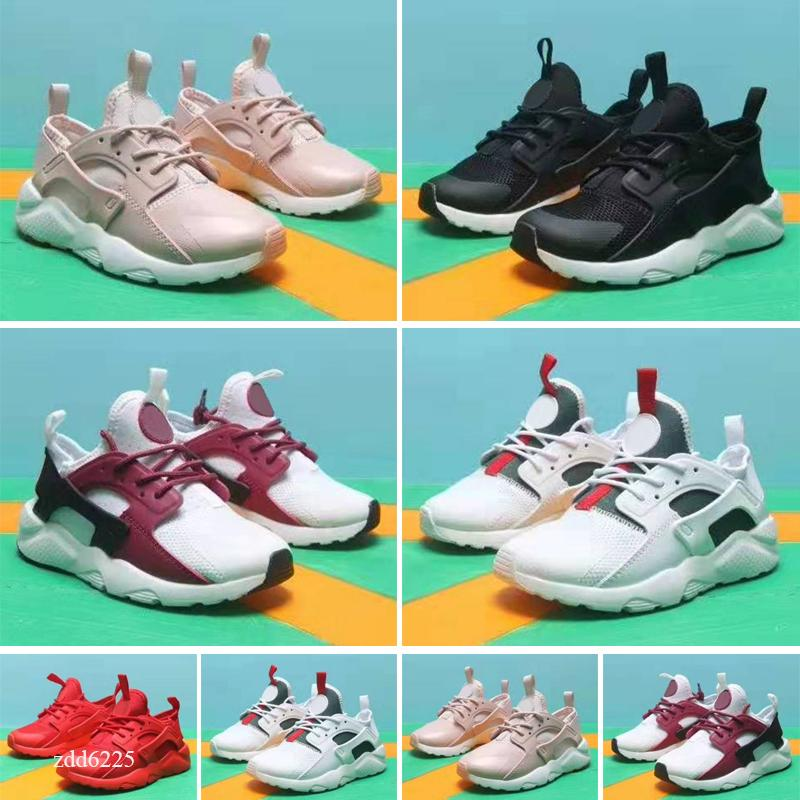 huarache shoes 4.0 1.0 kids shoes Triple White Black Red Grey huaraches Mens Trainers outdoor Sports kids Sneakers walking jogging