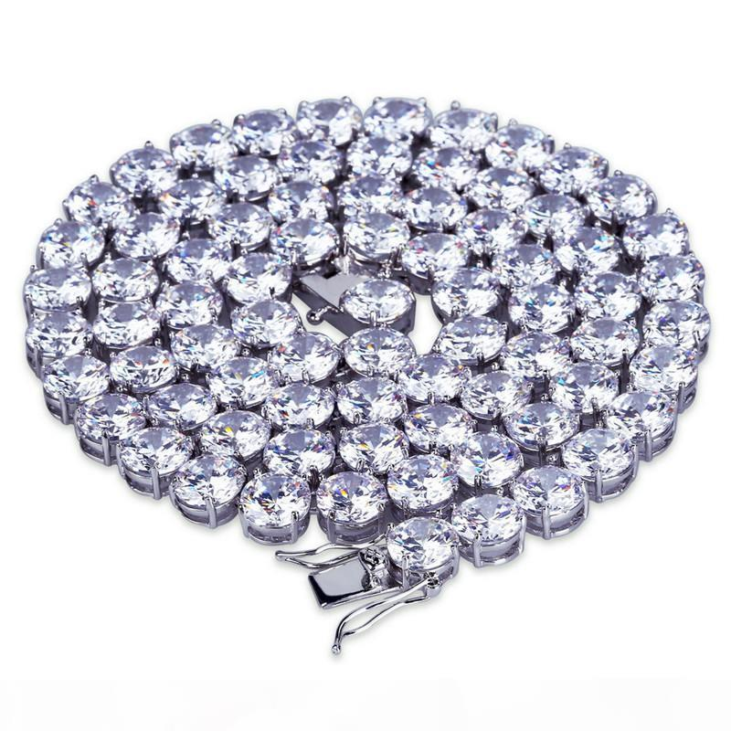 20 8mm 24inch Männer Frauen Halskette Hotsale Gold-Silber-Farbe CZ Tennis Kettenhalsketten für Männer-Kette Modeschmuck